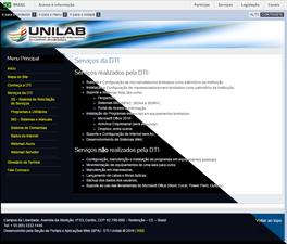 Pré-visualização do site